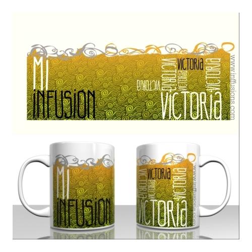 Taza / Mug Caracol Mi Infusión, 330 ml, cerámica