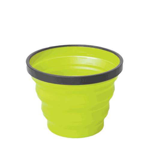 Vaso Plegable Sea To Summit XCup, 250 ml, verde, silicona/nylon BPA Free