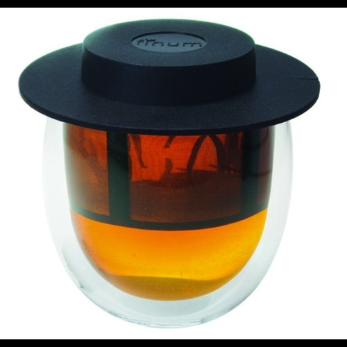 Vaso Finum doble capa c/filtro, 200 ml, borosilicato