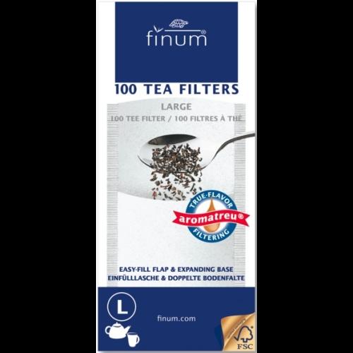 Filtro papel Finum p/tetera L, 100 unidades