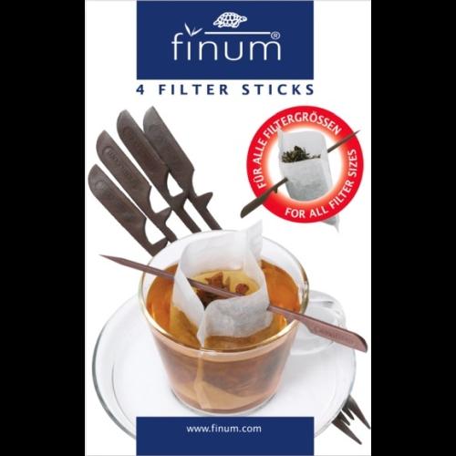 Sticks Finum p/ filtro papel, 4 unidades