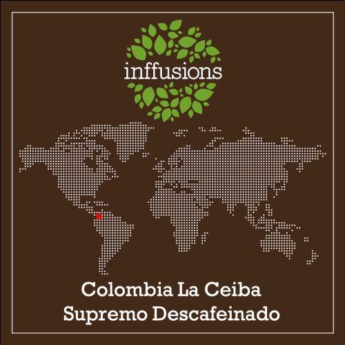 Café de Origen Colombia La Ceiba Supremo Descafeinado, grano, 250 g