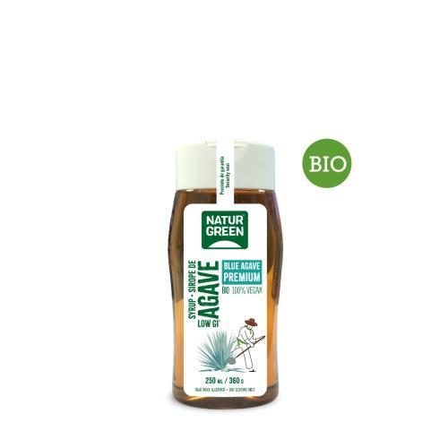 Sirope Agave BIO Natur Green, dosificador, 250 ml