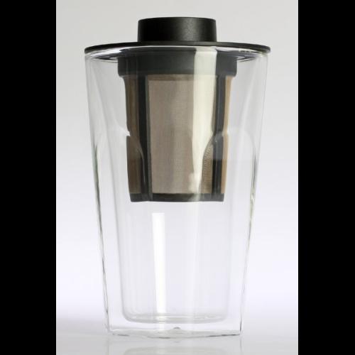 Vaso Finum c/ Filtro Smart Brew System, doble capa, 320 ml, borosilicato